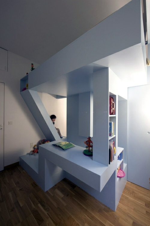 Minimalist kids room design by h2o architects interior design ideas avso org - Comfortable beds for small spaces minimalist ...