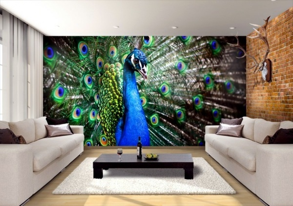 Perfect Dekoartikel   Peacock Feathers Decoration In The Living Room   Trends 2014