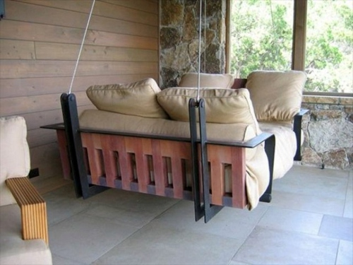 Perfect Show Cushions And Pillows In Beige Möbel   DIY Swing From Euro Pallets