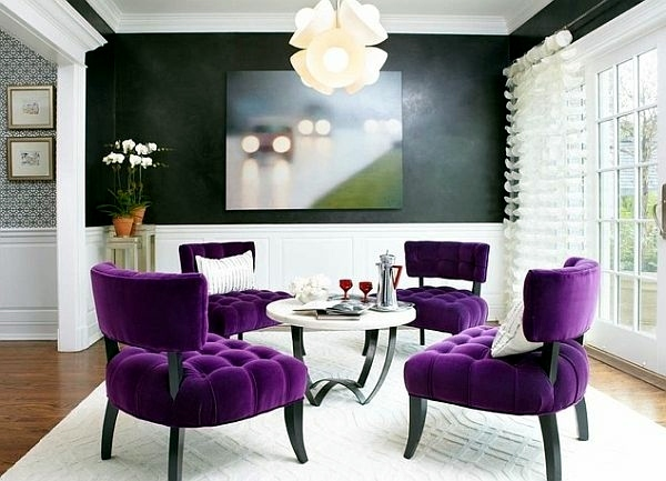 Modern living room design – bright, contrasting colors ...