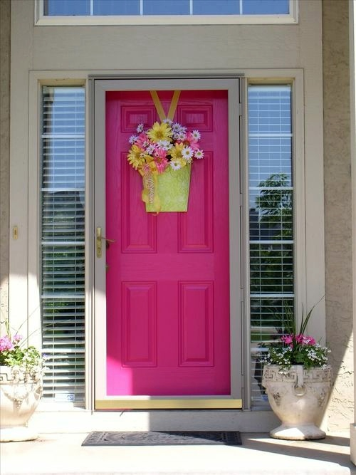 Charming ... 12 Cool Ideas For Pink Creative Door Design