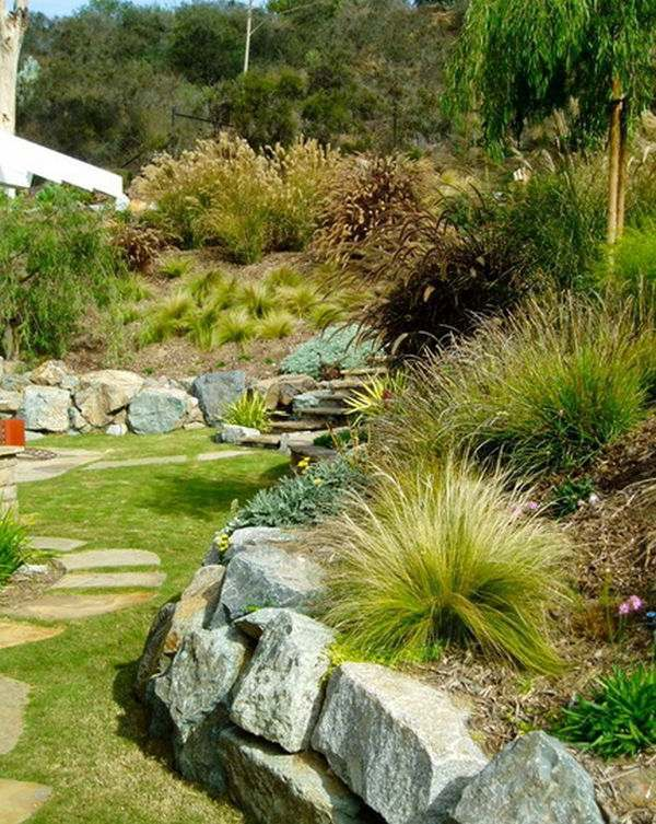 Install pebbles and river stones beautiful landscape in the garden install pebbles and river stones beautiful landscape in the garden workwithnaturefo