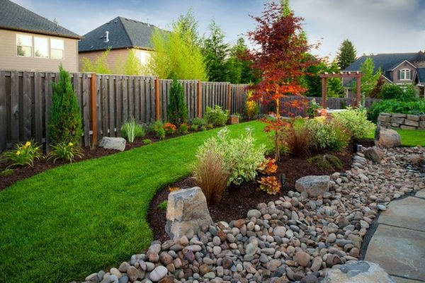 Landscaping With Rocks And Pebbles : Install pebbles and river stones beautiful landscape in the garden