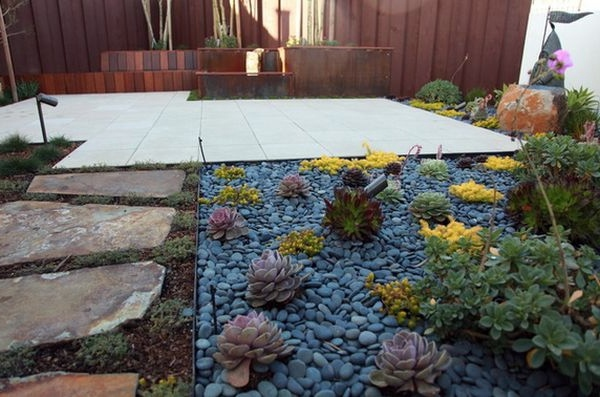 Install Pebbles And River Stones Beautiful Landscape In