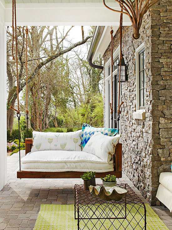 Terrace design ideas 16 creative designs for the porch for Terrace decoration ideas