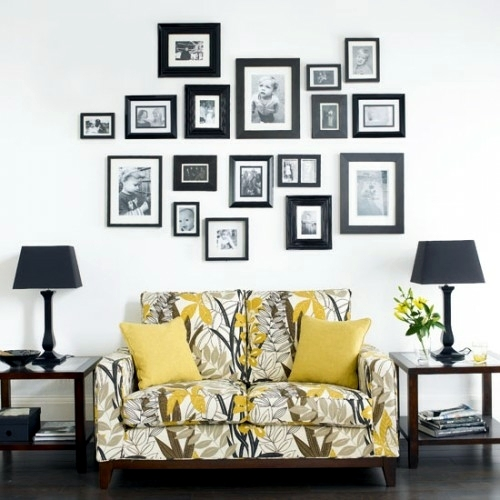 29 artistic wall design ideas wall decoration with for Picture wall layout