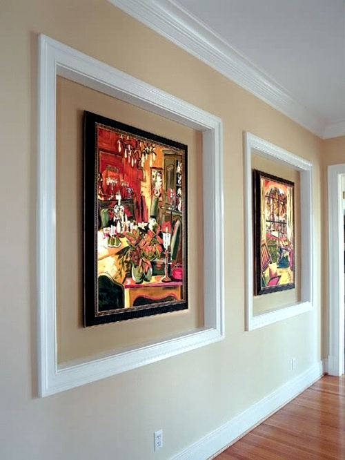 Oversized Frame In The Hallway 29 Artistic Wall Design Ideas   Wall  Decoration With Pictures