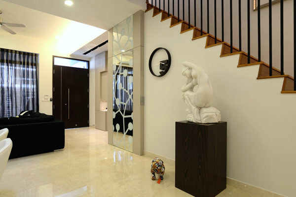 four level terrace house in singapore by knq associates interior