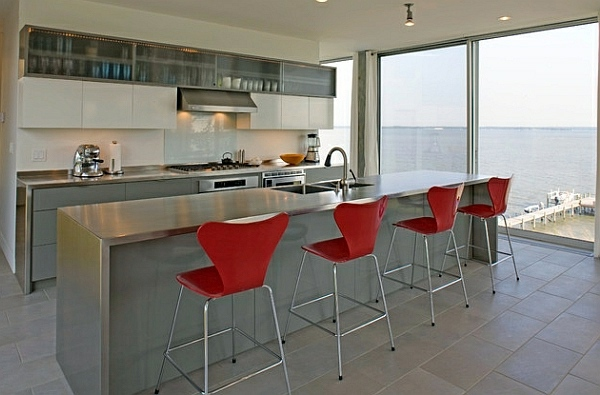 Fresh red 56 trendy bar stools and kitchen stools that complete your modern  kitchen