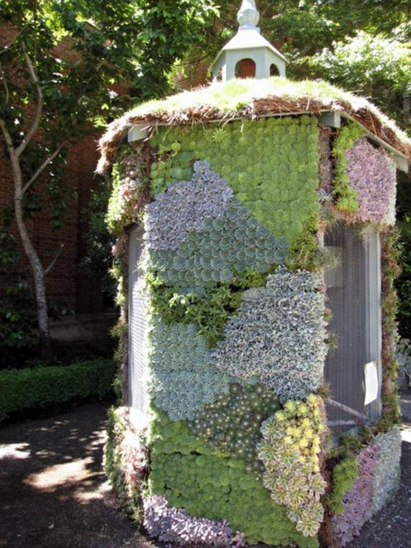 Garden Shed Covered With Succulents 60 Beautiful Garden Ideas   Garden  Pictures For Garden Decorations