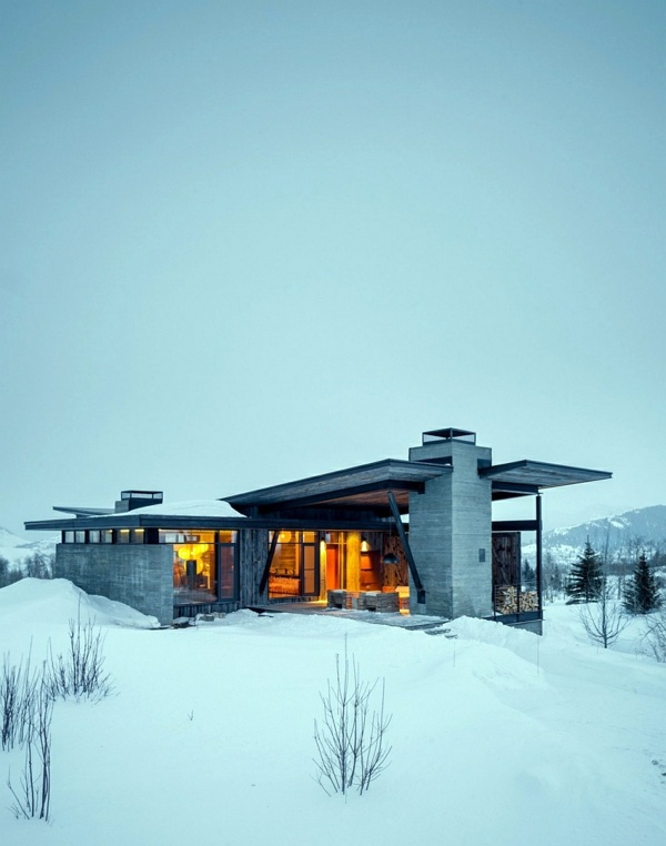 Gorgeous mountain cabin in a modern contemporary style for Stazione di jackson hole cabin