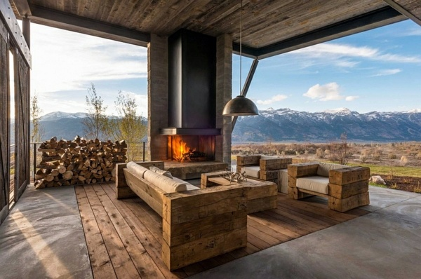 Gorgeous mountain cabin in a modern contemporary style Interior