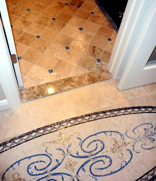 15 modern bathroom floor ideas unique designer for Unusual bathroom flooring ideas