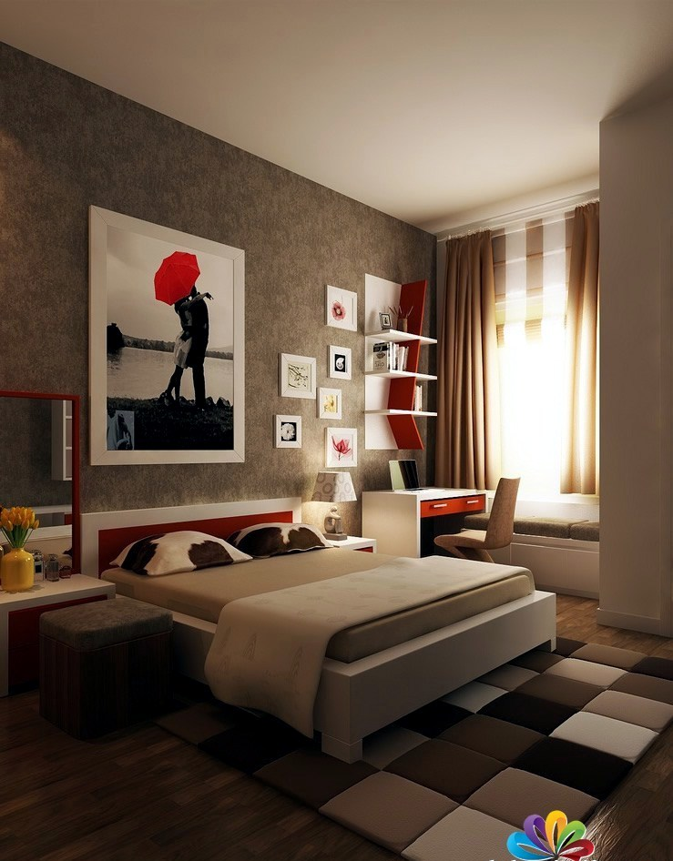 Smart and sassy bedroom