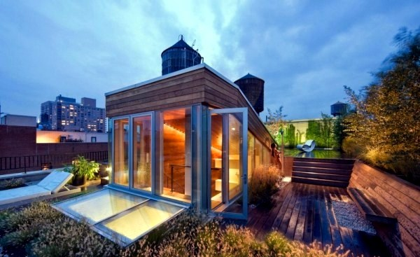 Modern loft with indoor garden and a clear eco guiding for Eco indoor garden house