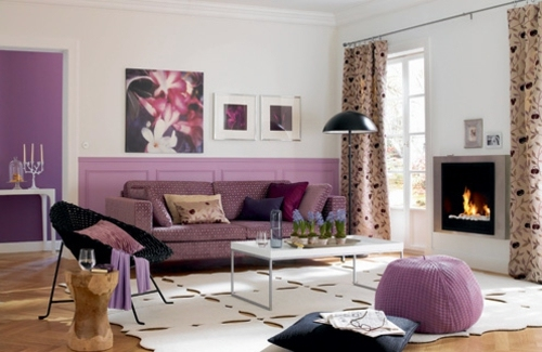 Wohnzimmer Ideen   Stylish Purple Living Room Interior Part 70