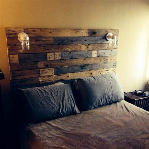 DIY Headboard Euro Pallets Interior Design Ideas AVSOORG