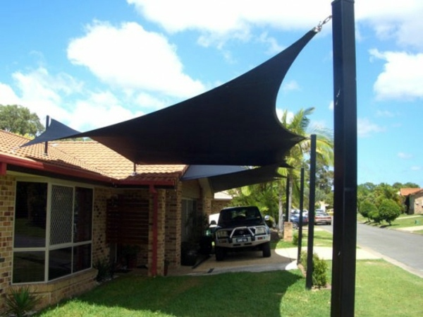 shade sail design in the yard an original idea and protection shade
