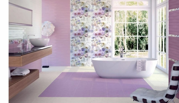 Tiles in the bathroom design cool bathroom pictures for Purple bathroom tiles ideas