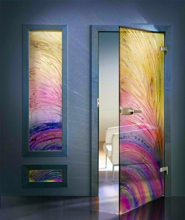 Interior doors made from glass modern aesthetic glass Modern glass doors interior