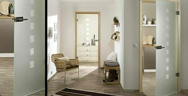 Neutral Color Palette Interior Doors Made From Glass   Modern, Aesthetic Glass  Doors