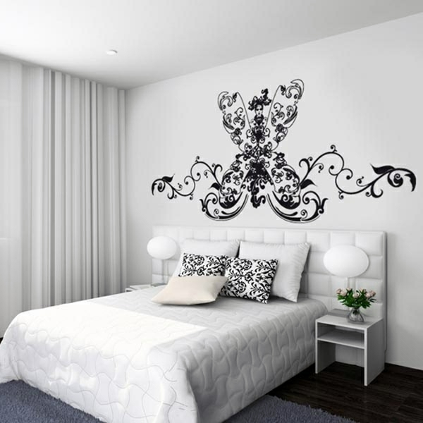 Wall Design Decals hibiscus flowers wall decals zoom Wandgestaltung Modern Wall Decal Wall Design Trends 2014