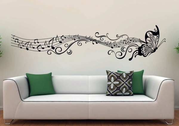 music and nature in a wandtattoo modern wall decal wall design trends 2014 - Design Wall Decal