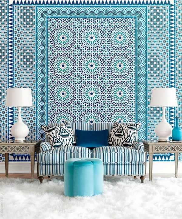 Blue Wallpaper The Perfect Piped In Each Room