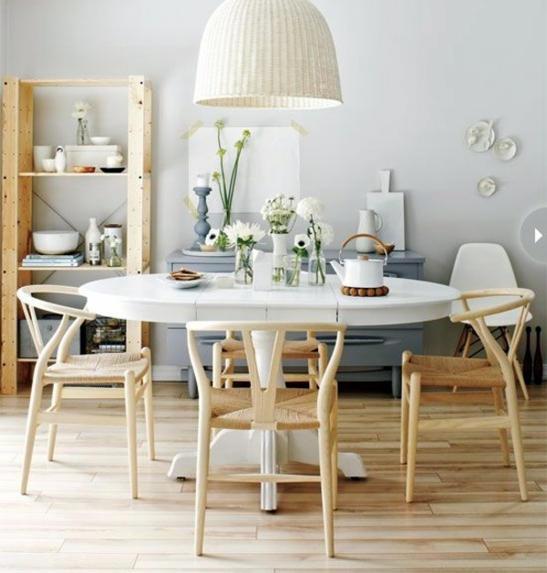 Dining room design ideas for inexpensive dining room - Table et chaise en pin ...