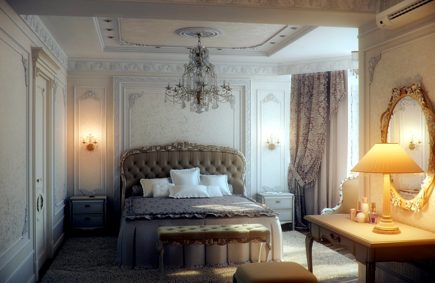 Bedroom with traditional elegance interior design ideas for Interior design bedroom traditional