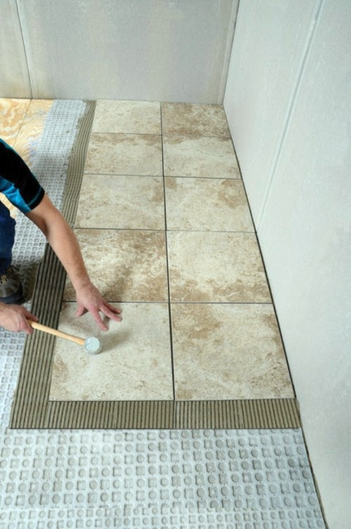 Lay bathroom tiles correctly a few professional tips for for What does hollow to floor mean