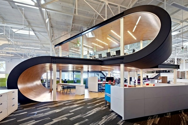 Ultra modern office of flash design – an old warehouse awakened to ...