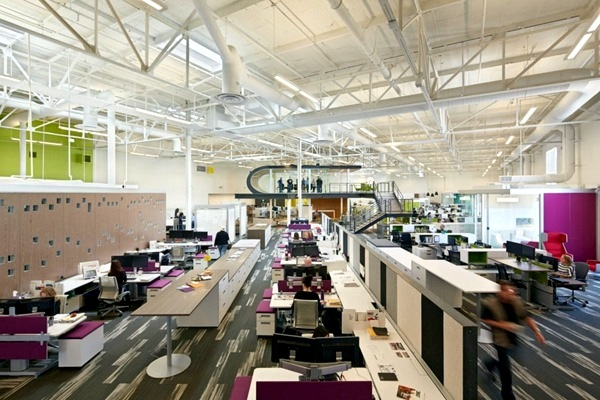 Ultra modern office of flash design - an old warehouse awakened to new life