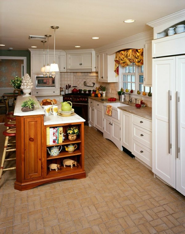 Kitchen block freestanding – more workspace and storage space in the ...