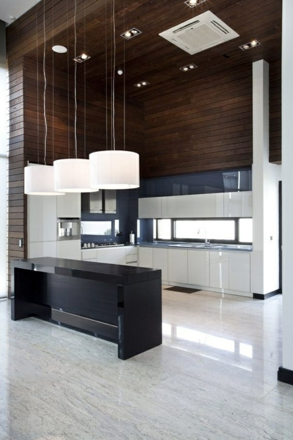 Trendy Kitchen With Great Lighting Kitchen Block Freestanding   More  Workspace And Storage Space In The Kitchen Contemporary Kitchen Design ...
