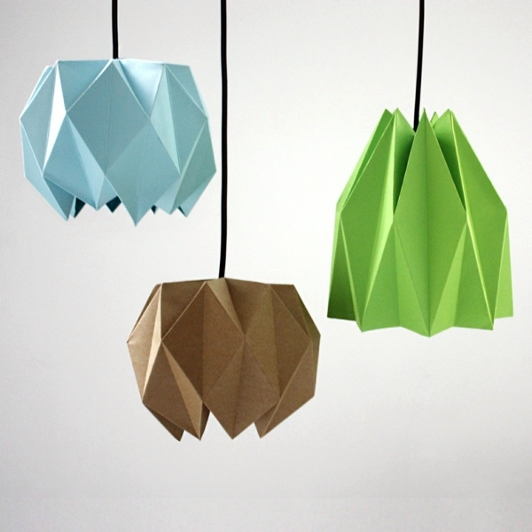 Origami lampshade instructions for diy enthusiasts interior dekoartikel origami lampshade instructions for diy enthusiasts aloadofball