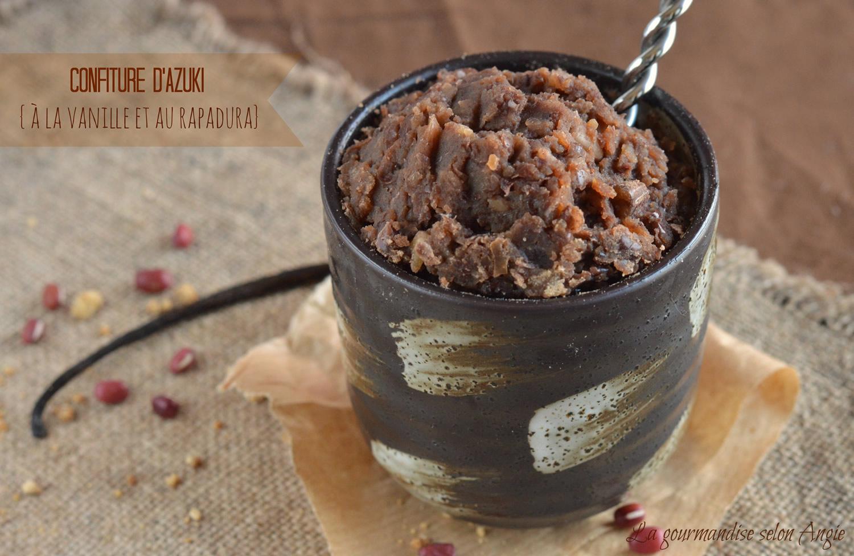 Azuki jam with vanilla and rapadura