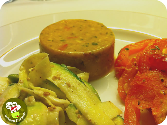 Blanks and vegetables Provencal Tofu