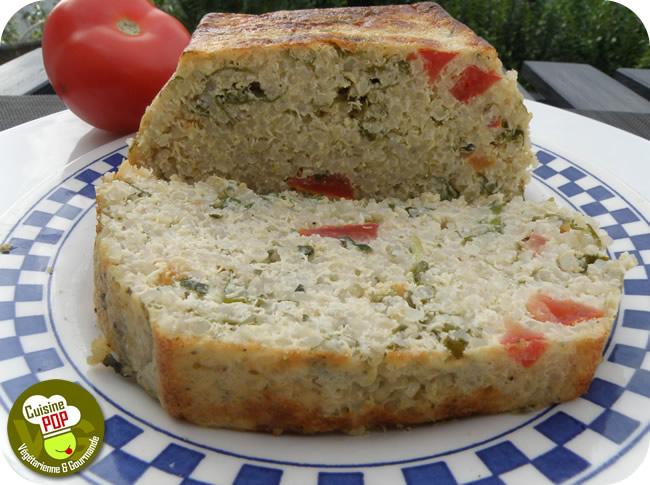 Cake Quinoa and Arugula