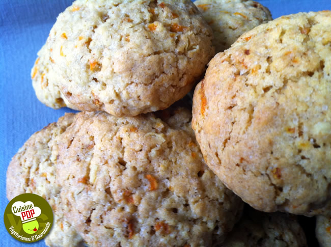 Cookies oatmeal and carrots
