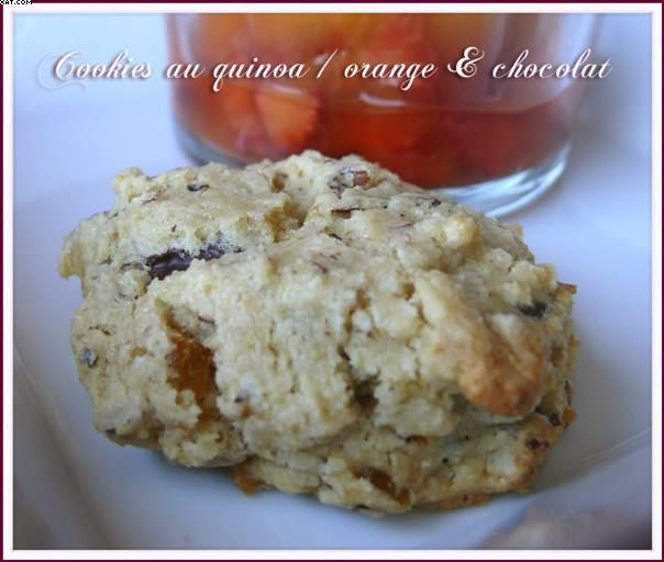 Quinoa Cookies, Orange & Chocolate