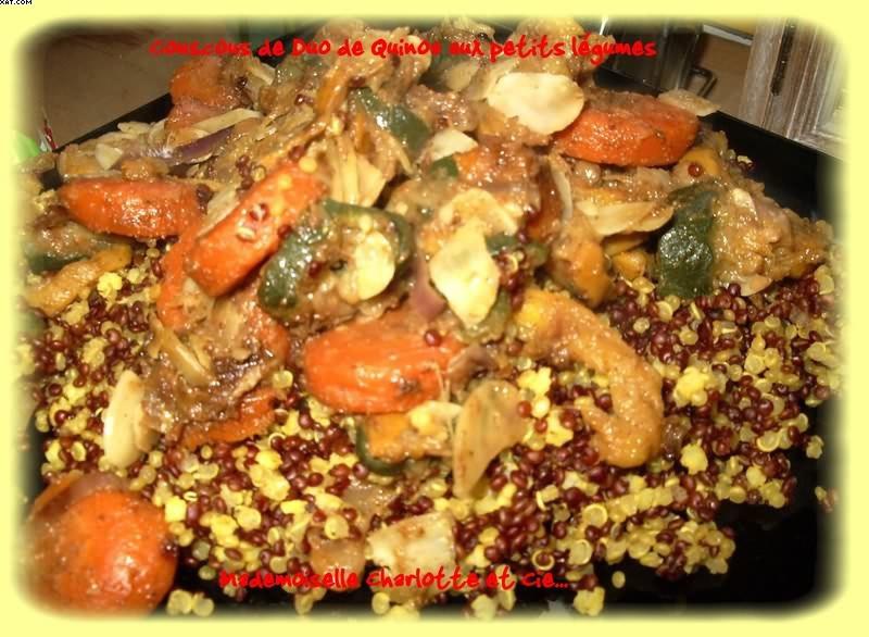 Quinoa with vegetable couscous