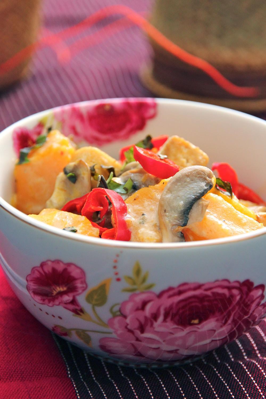 Red Curry Tofu butternut squash