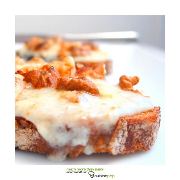 Roquefort and walnut toast