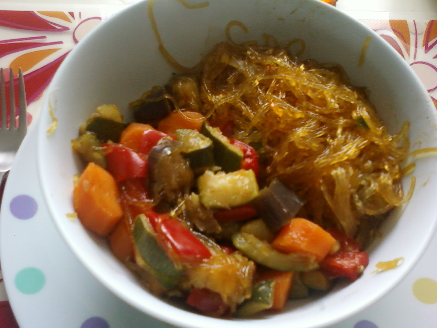 Soy noodles with vegetables