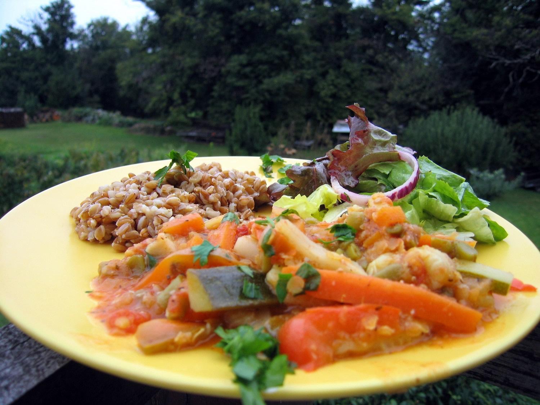 Spelt Pilaf with vegetables