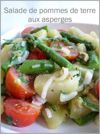 Tere potato salad with asparagus