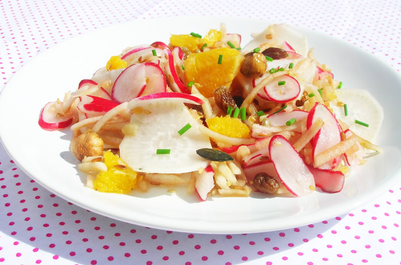 Vitamin salad with radishes two