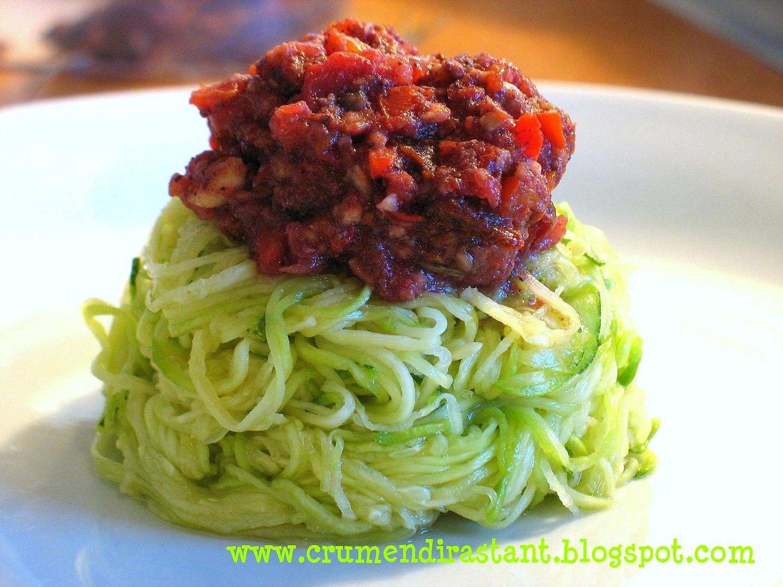 Zucchini salad with tomatoes
