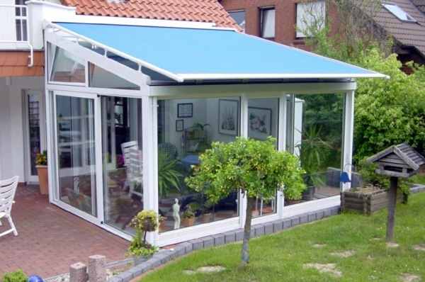Balcony Or Terrace Glass Conservatory Build On A